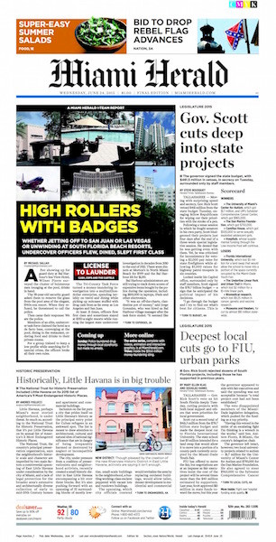 Miami Herald - Front Page 6.24
