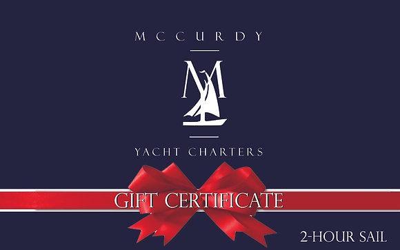 2-Hour Sail - Gift Certificate