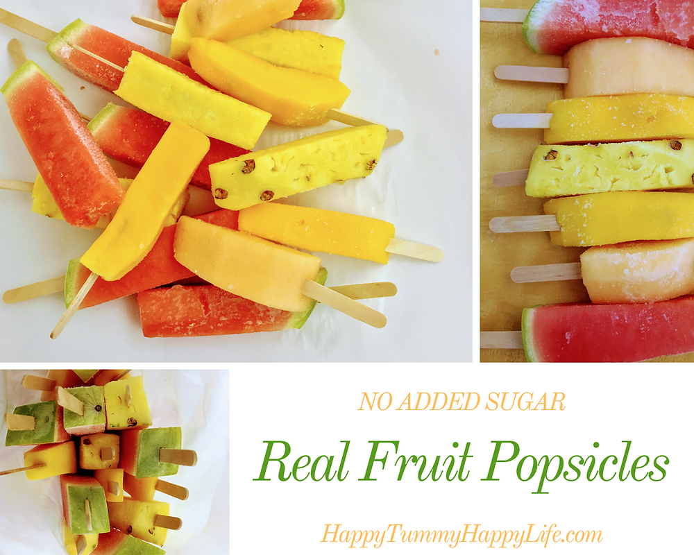 Healthy snacks, popsicles, watermelon, cantaloupe, mango, summer, pineapple, kids, fruit, no added sugar, all natural, diary free, gluten free