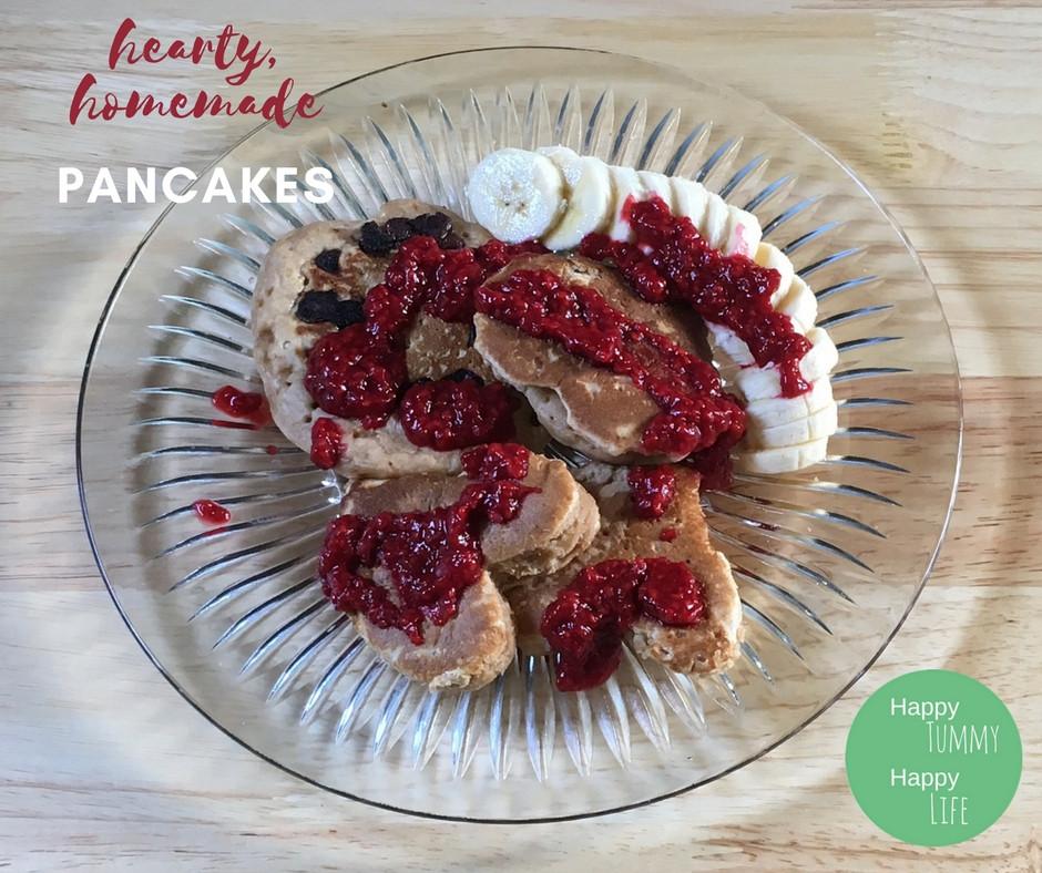 Pancakes, homemade, whole wheat, breakfast recipes, easy recipes