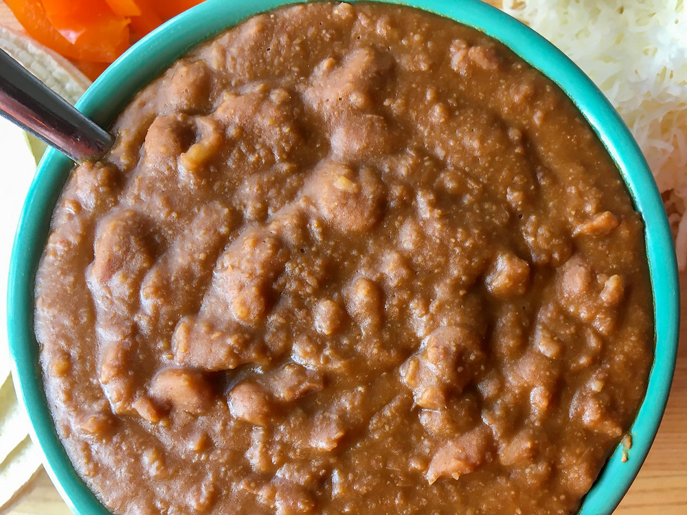 Refried beans, Beans, Pinto Beans, Cheese, Instant Pot Recipes, Bell Peppers, Dairy Free Recipes, Gluten Free Recipes, Fat Free Recipes, Preservative Free Recipes, Easy Recipes, Healthy Food