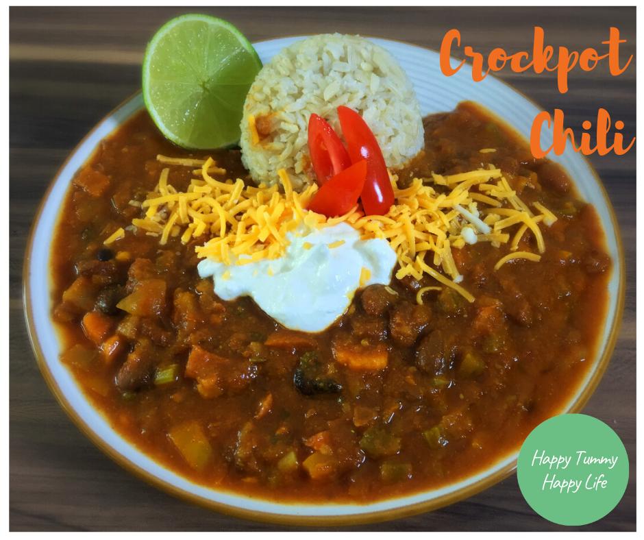 Crockpot Chili | Easy Recipes | Vegan Recipes | Dairy Free Recipes | Gluten-Free Recipes | Easy Dinners