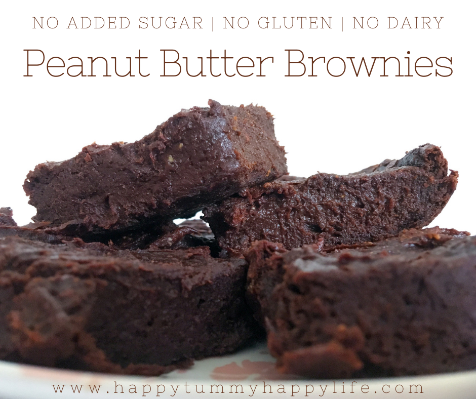 Peanut Butter, Brownies, Refined Sugar Free, Dairy Free, Gluten Free, Egg Free, Dessert, Chocolate