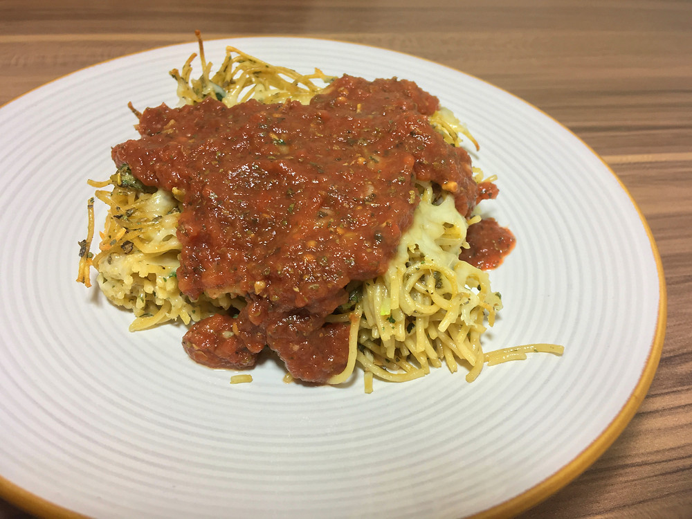 Spaghetti Pie, Pasta, Easy, Vegetarian, Preservative Free