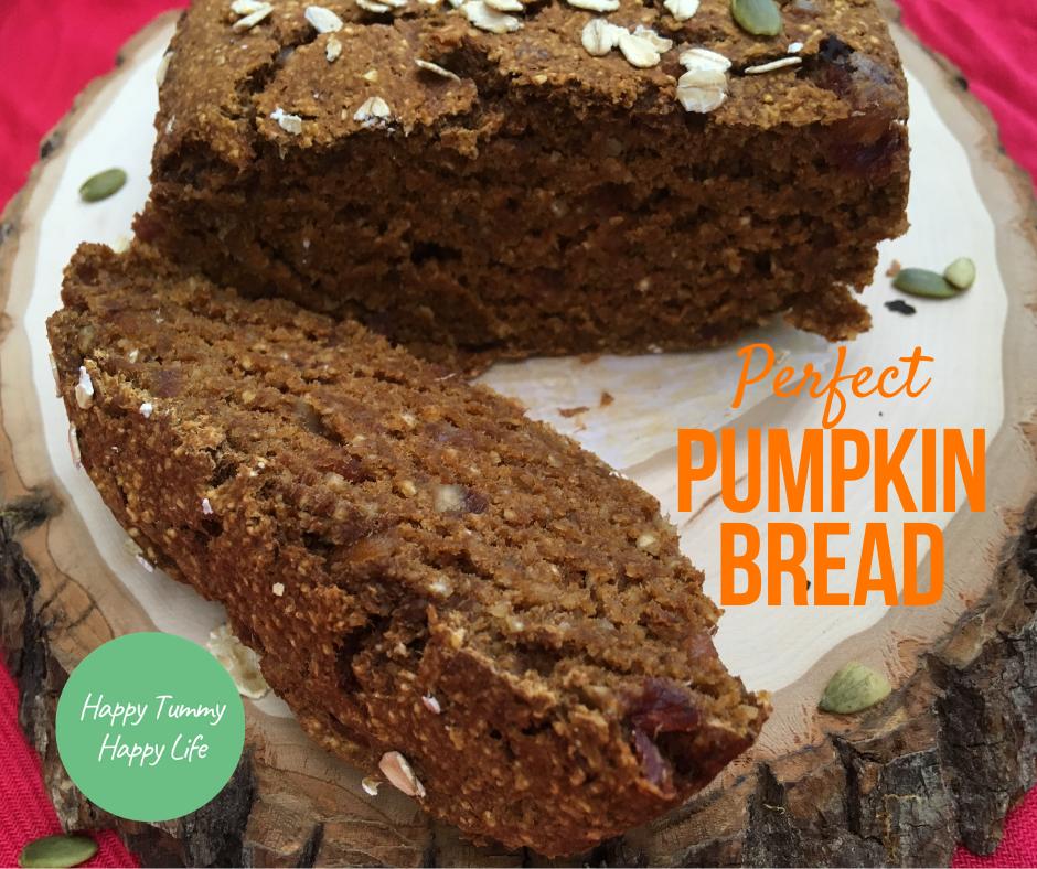 Pumpkin Bread | Gluten Free | Vegan | Dairy Free | No added sugar | Fall Recipes | Healthy Snacks