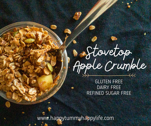 Stovetop Apple Crumble