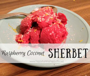 Raspberry Coconut Sherbet