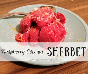 Raspberry Coconut Sherbet