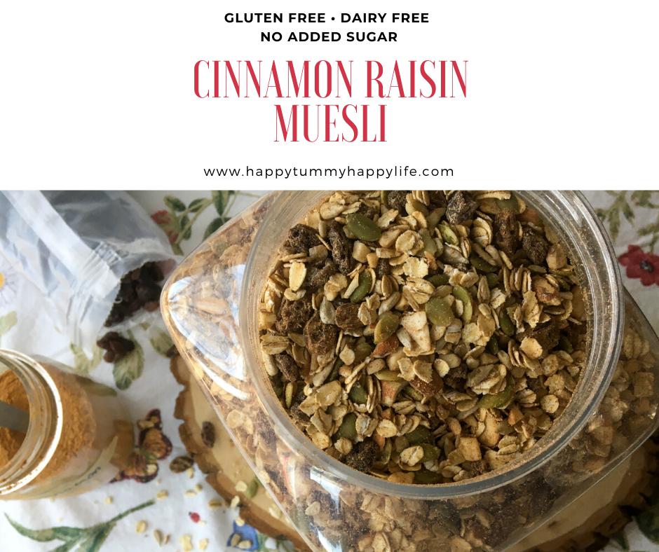 Easy, Healthy, Breakfast, Gluten Free, Dairy Free, No Added Sugar, Preservative Free, Cinnamon, Oats, Pumpkin Seeds, Raisins, Sunflower Seeds, Almonds