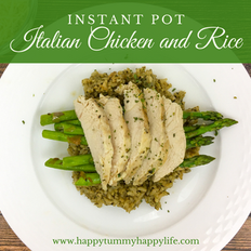Instant Pot Italian Chicken and Rice