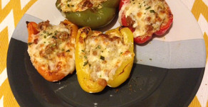 Pizza-Stuffed Bell Peppers