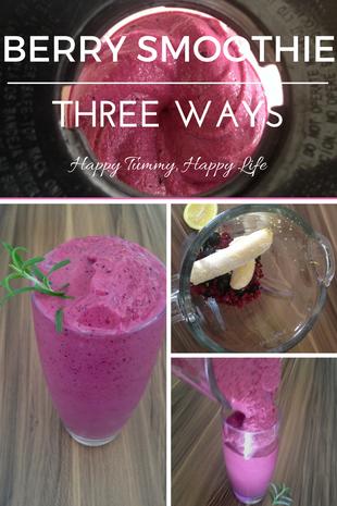 Berry Smoothie—Three Ways