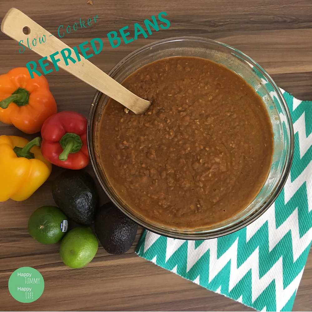 Refried Beans, Tex-Mex, Mexican Food, Gluten Free, Dairy Free, Preservative Free, Vegetarian, Vegan, Fat Free, Easy, Slow Cooker, Crockpot