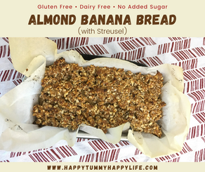 Almond Banana Bread (with Streusel)