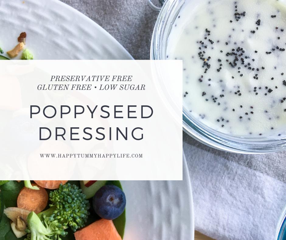 salad, salad dressing, low sugar, preservative free, gluten free, poppysed, poppyseed dressing
