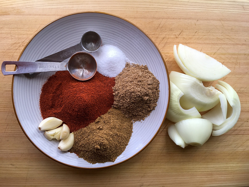 Paprika, Cumin, Coriander, Sea Salt, Garlic, Onion, Tablespoon, Teaspoon