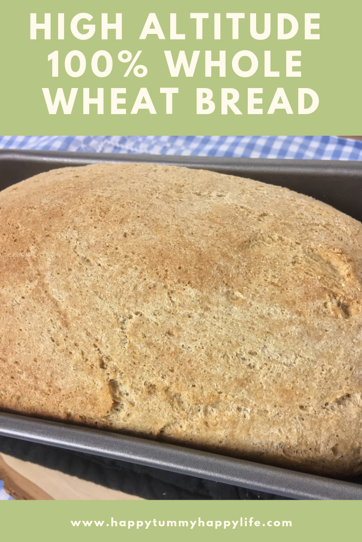 Whole Wheat Bread, Home-Ground Wheat, Preservative Free, Dairy Free, Easy, High Altitude