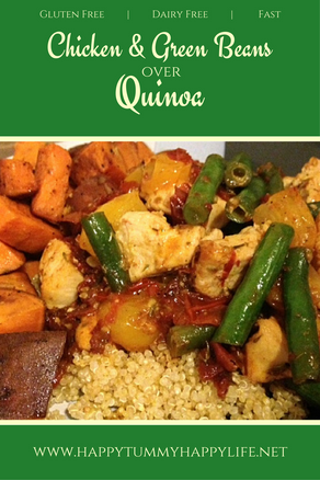 Chicken and Green Beans Over Quinoa