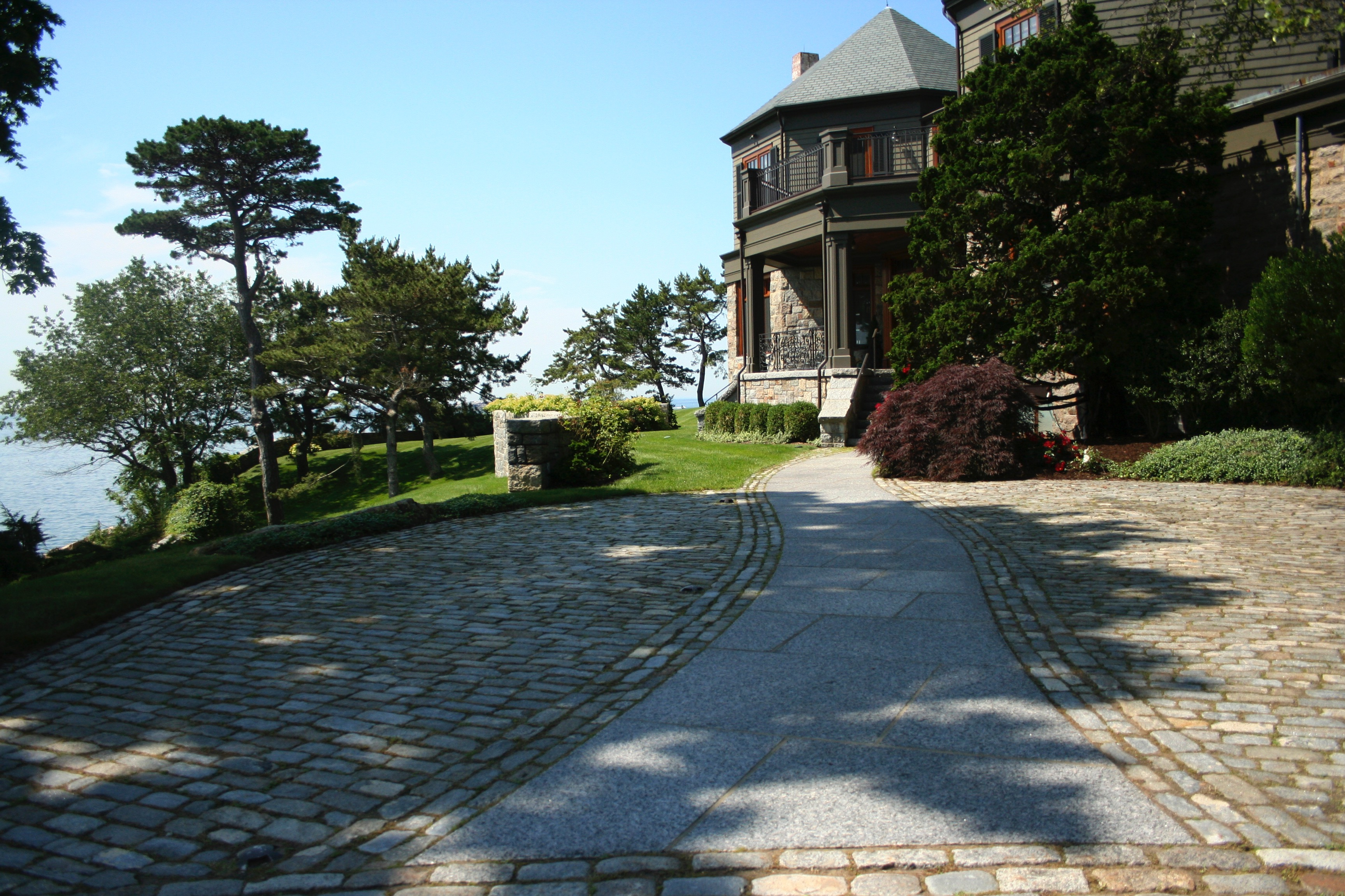 Curved Granite Walkway