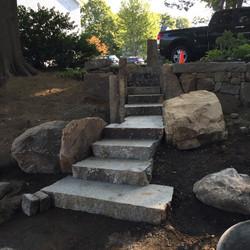 Dry Laid Granite Steps