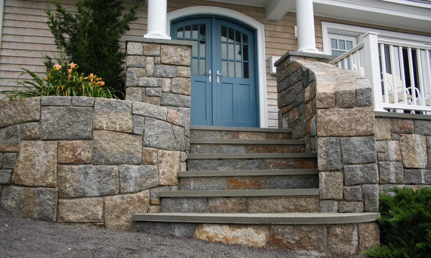 Curved Stone Entry