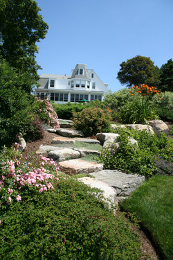 Steps with Seaside Perennials
