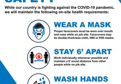 COVID-19 Job Site Sign