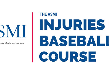 Thank You : ASMI's 39th Annual Injuries in Baseball Course