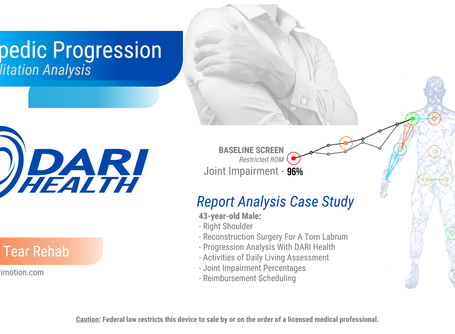 DARI Health: Case Study - Shoulder Labrum Repair Rehabilitation Progression