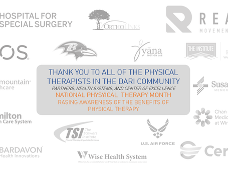 Thank You to all the Physical Therapists in the DARI Community!