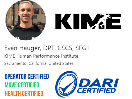 Shout Out! Evan Hauger at KIME for his triple certification