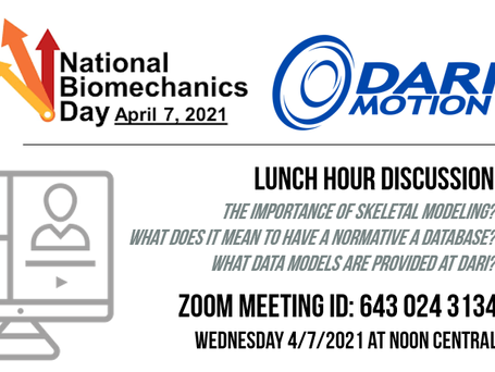 National Biomechanics Day!  Lunch Symposium On Wednesday April 7th.