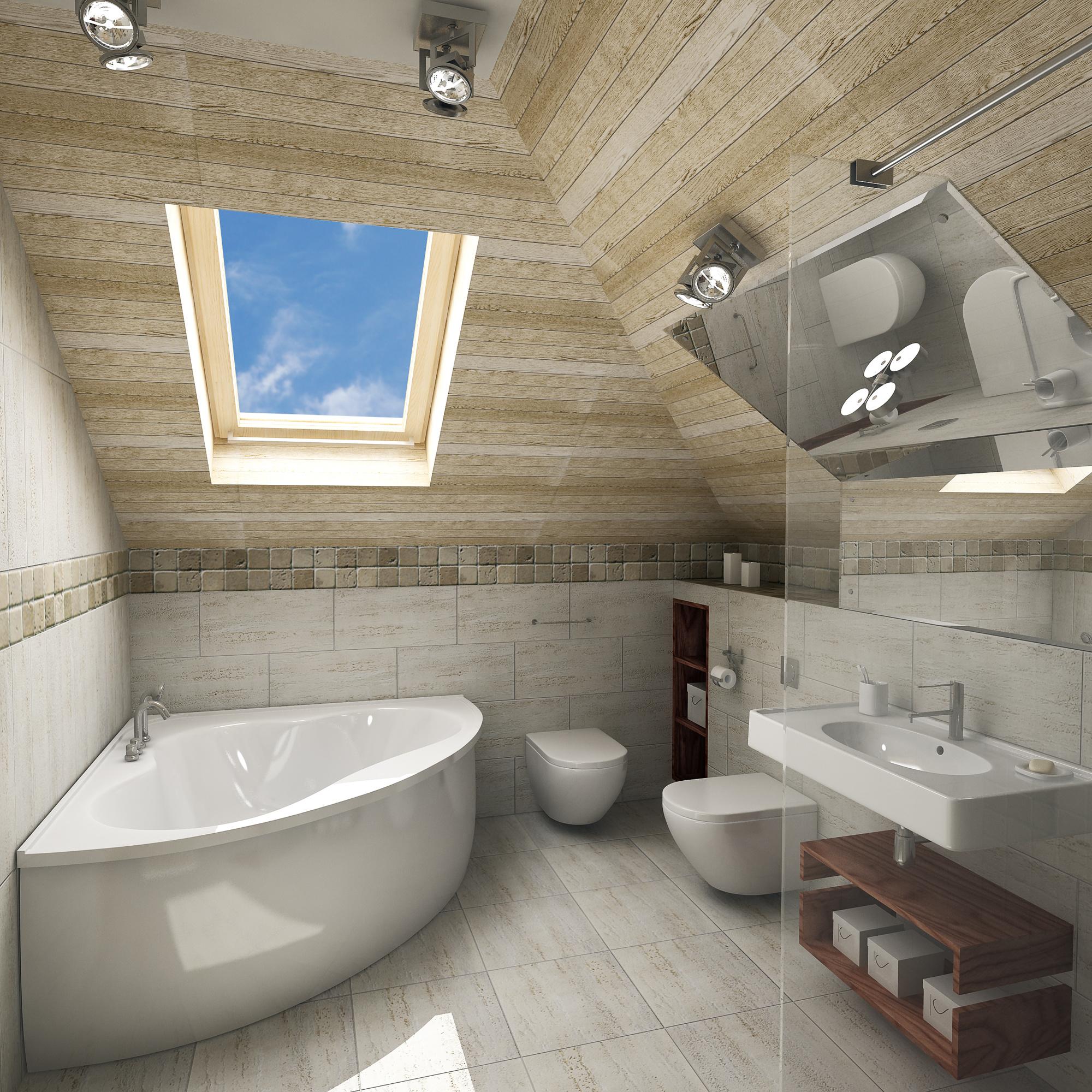 Design-Konzept mit Dachschräge