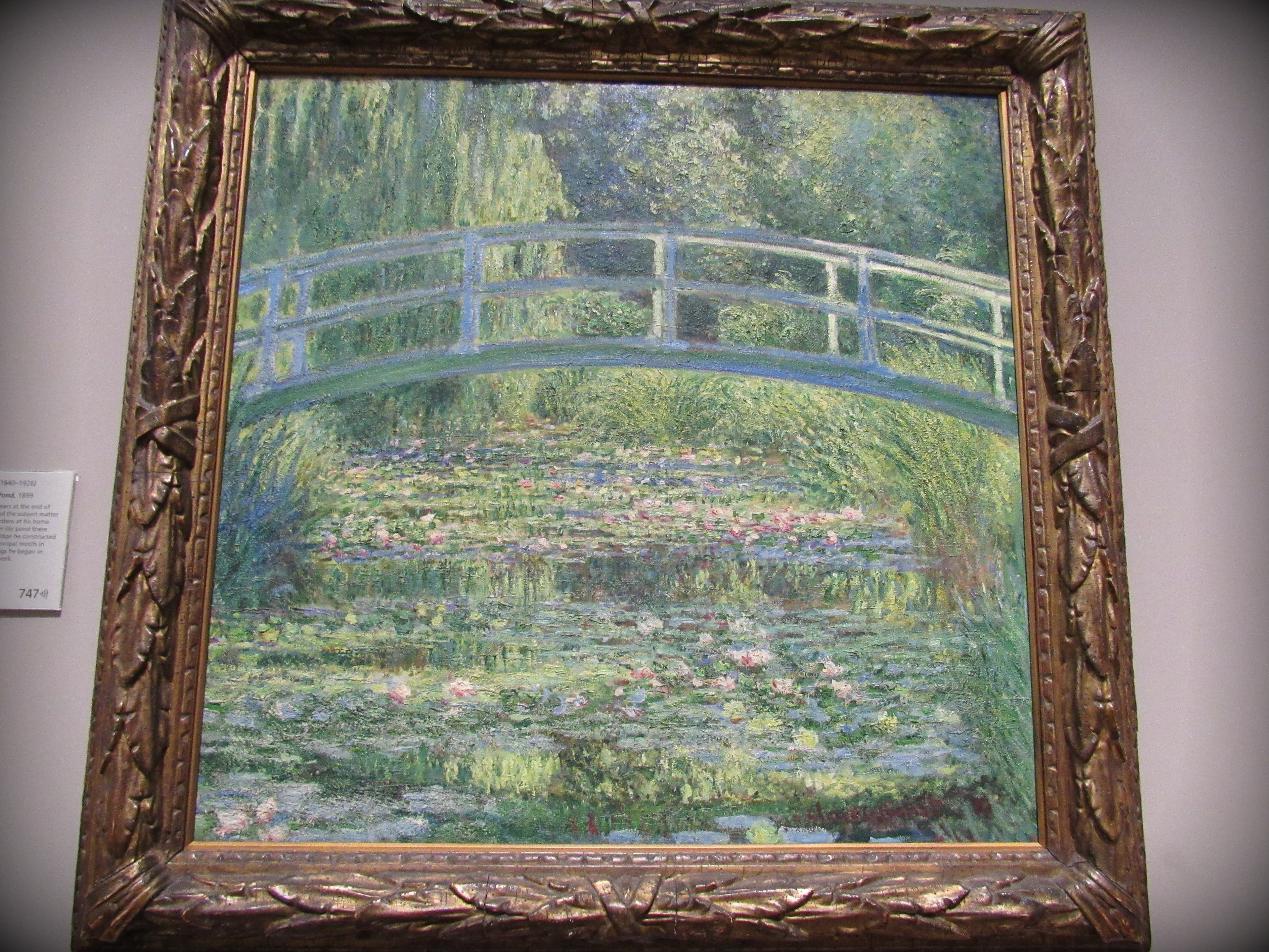 Claude Monet: The Water-Lily Pond, 1899.  The National Gallery, Londres.
