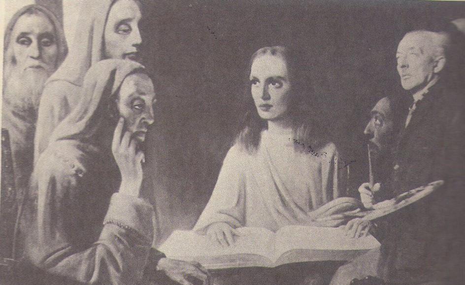 Van Meegeren pintando um Vermeer na corte