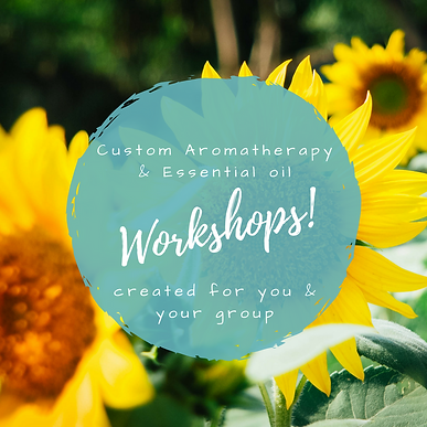 customized aromatherapy workshops and special events