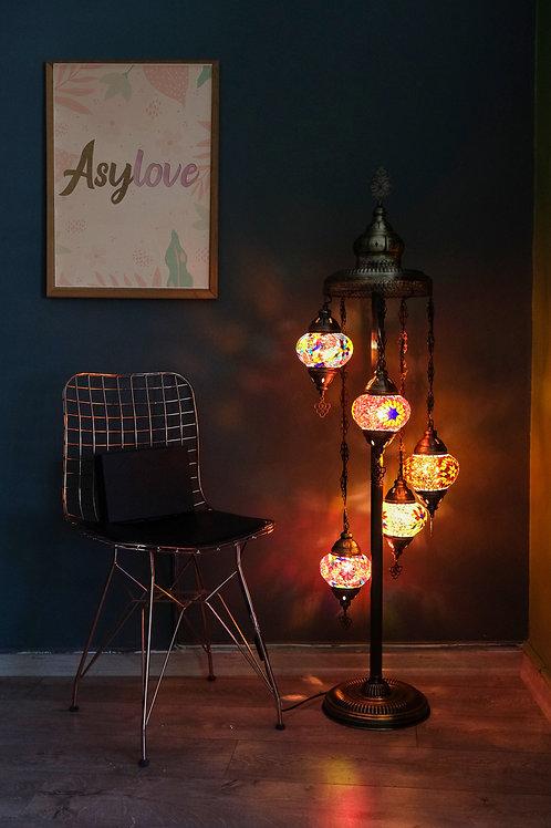 5 Globe Chandelier Turkish Mosaic Ceiling Pendant Lamp Moroccan Hanging Ligh