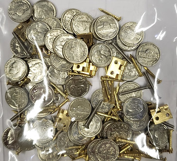 Coins, hinges and more