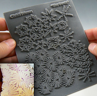 """Star Burstz"" texture stamp"