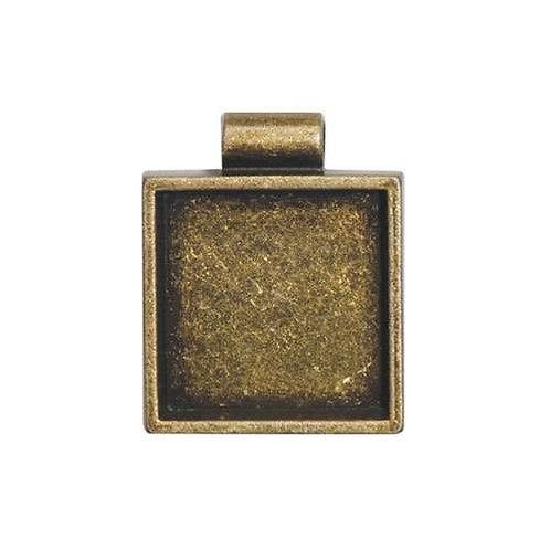 Square Bezel - Antique Gold