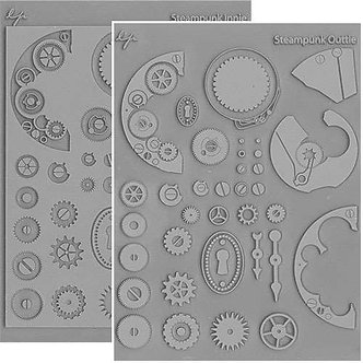 Steampunk Texture Stamp Set