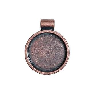 Round Bezel - Antique Copper