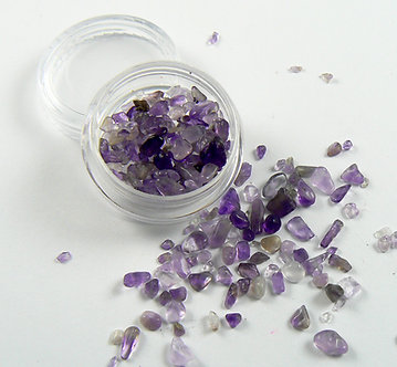 Amethyst natural stone chips - small container