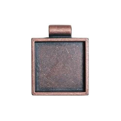 Square Bezel - Antique Copper