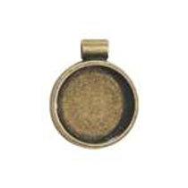Round Bezel - Antique Gold