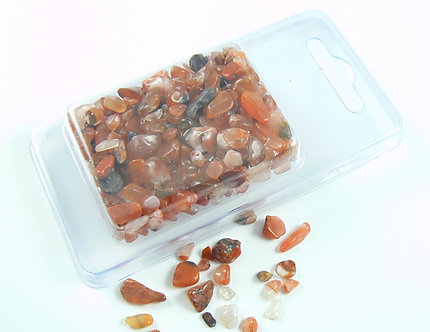 Carnelian natural stone chips - large size