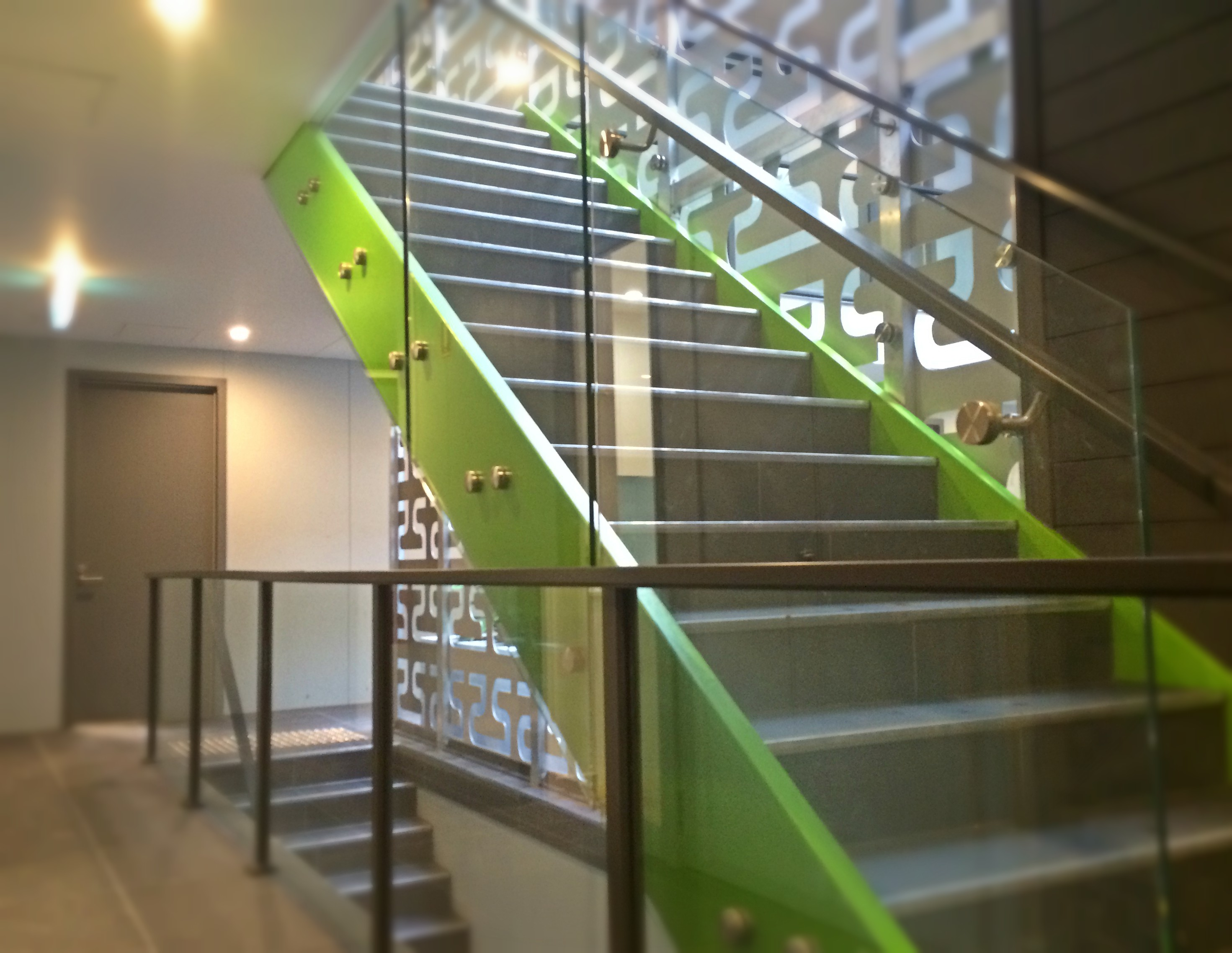 Offset Stair Glass