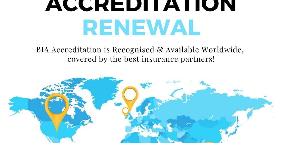 Accreditation Renewal - 1 year