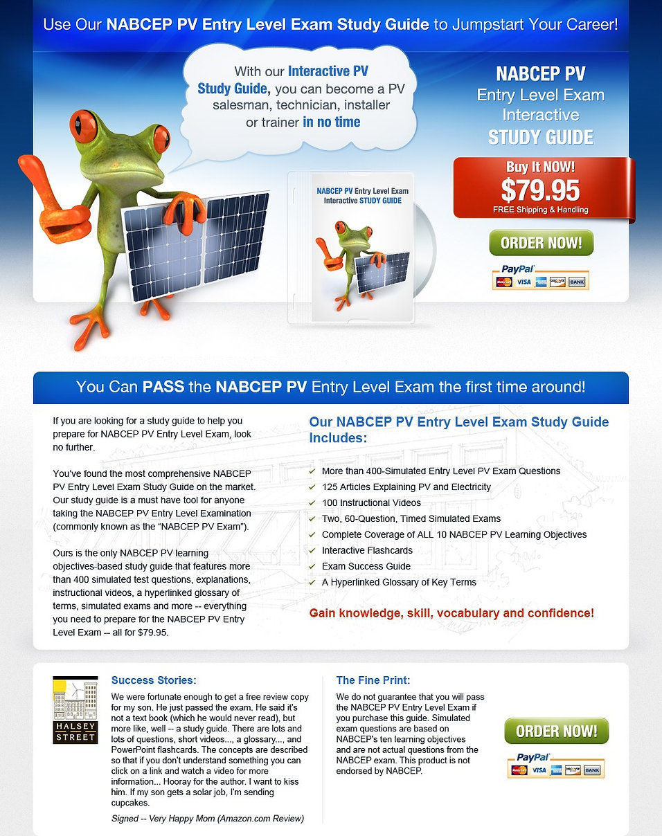 nabcep pv entry level exam interactive study guide