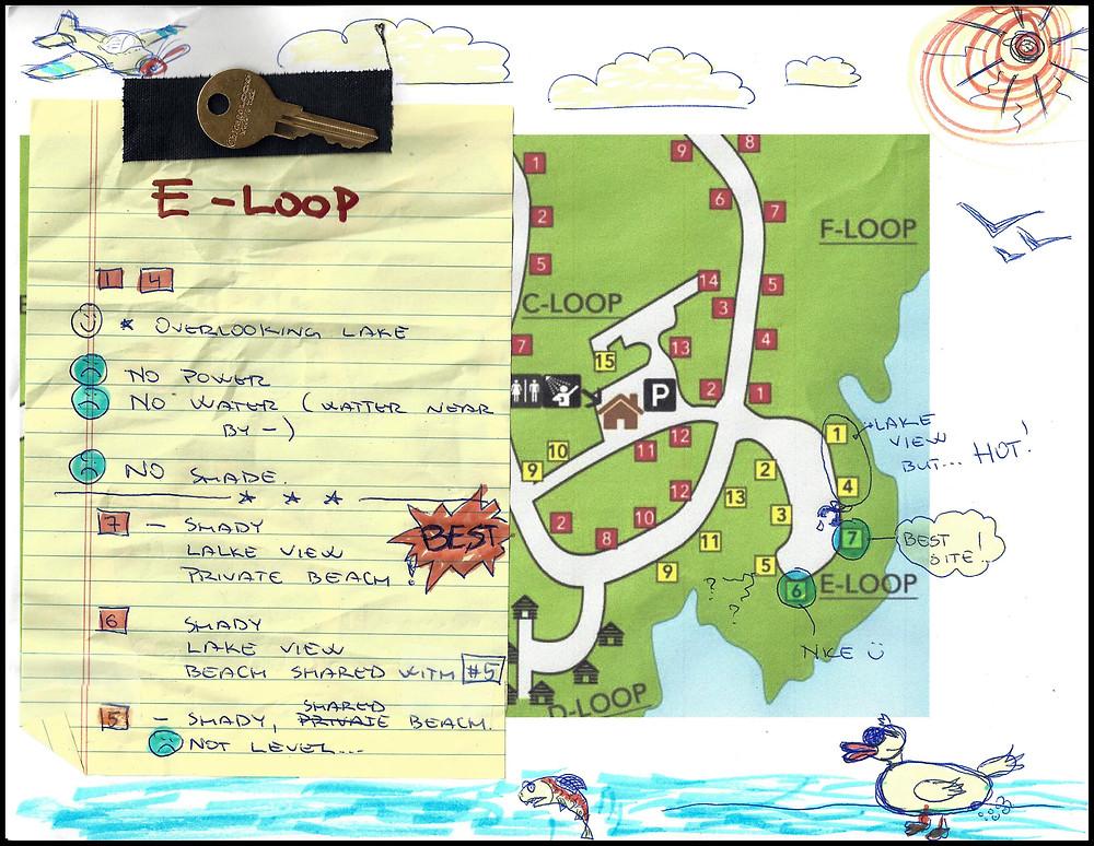 Lake McSwain Loop E Information